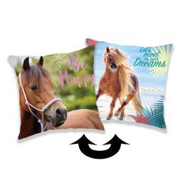 Horse Heart poduszka cover with sequins