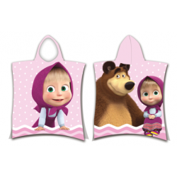 Masha and The Bear Dots poncho