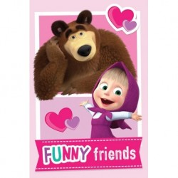 Masha and The Bear Friends koc fleece
