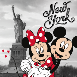 Mickey and Minnie in New York poduszka cover