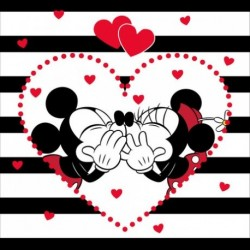 Mickey a Minnie Stripes poduszka cover