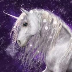 Unicorn Purple poduszka cover