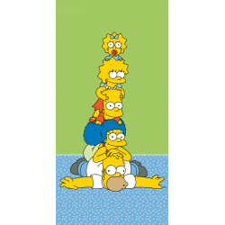 The Simpsons Family Tower ręcznik plażowy