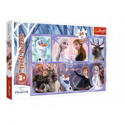 Puzzle Świat pełen magii Frozen 2 24 Maxi elementów