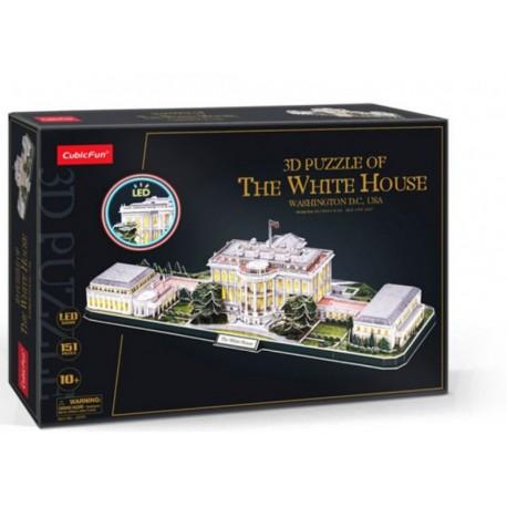 Puzzle 3D LED Biały Dom