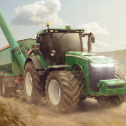 Tractor Green poduszka cover